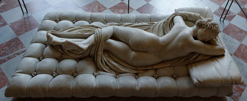 avrupa rüyası paris louvre müzesi UyuyanHermaphroditus