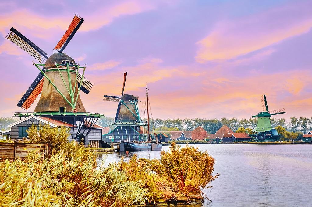 avrupa rüyası hollanda yel değirmenleri